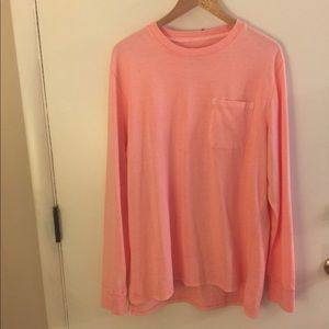 Pink long sleeve top size LARGE